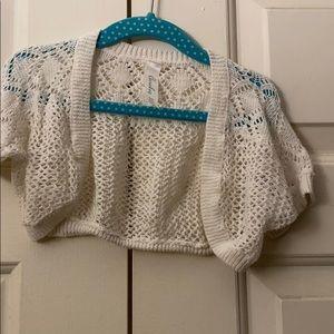 Bolero sweater for little girls